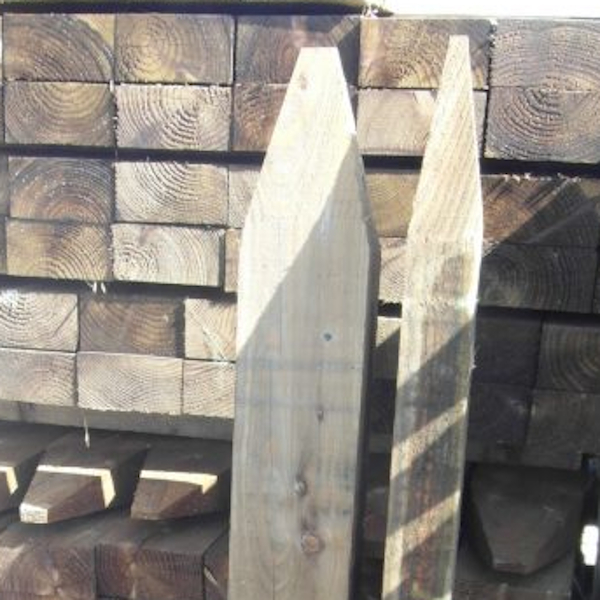 Rectangular pointed posts at www.sffencing.co.uk