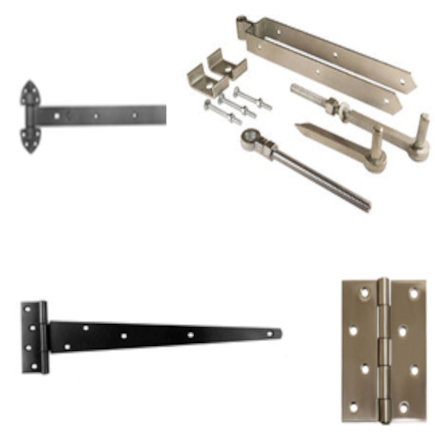 Hinges for doors and gates